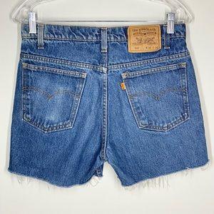 Vintage Levis Orange Tab High Rise Cutoff Shorts